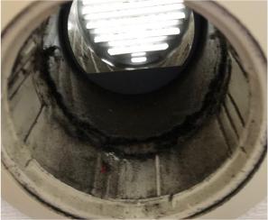 外側のフィルターを付けていないと吸気口の内側はこんなに汚れます